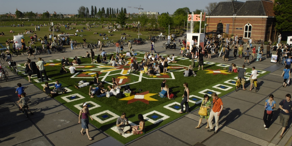 Amsterdam flying grass carpet