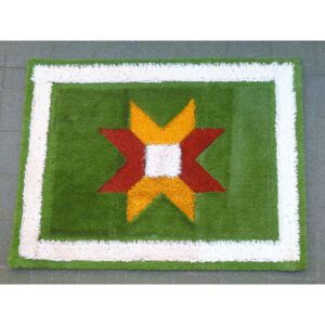 Tiny Flying Grass Carpet White stripe Border